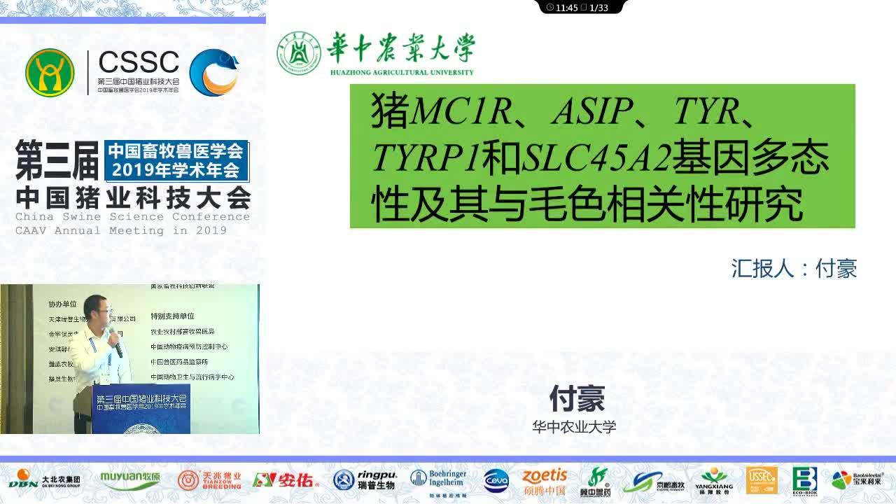 猪MC1R、ASIP、TYR、TYRP1和SLC45A2基因多态性及其与毛色相关性研究