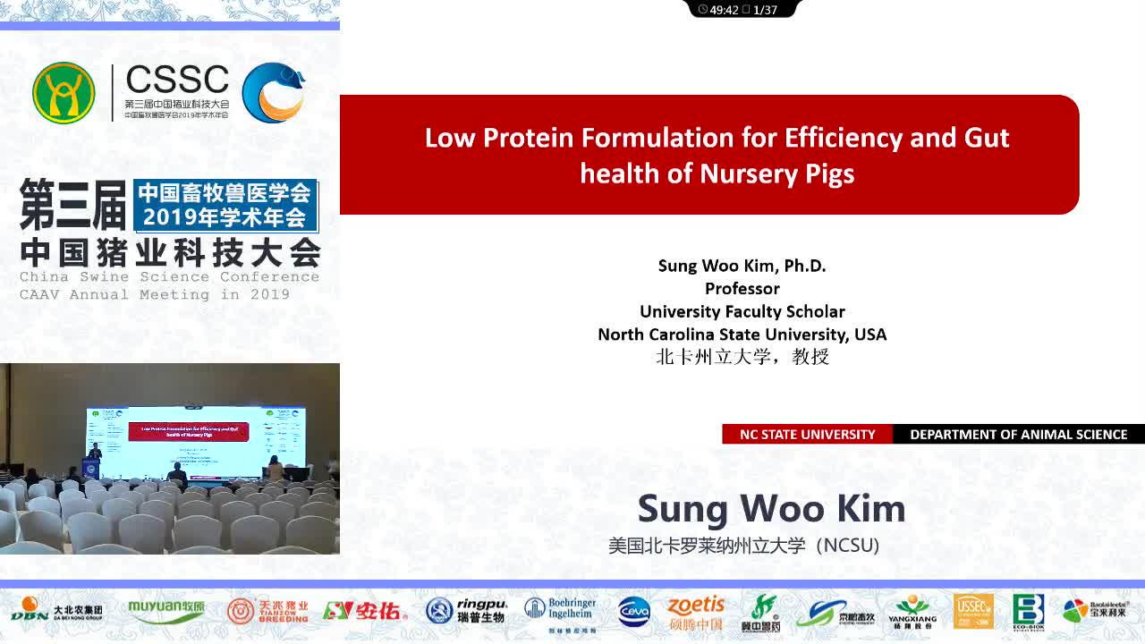 Low Protein Formulation for Efficiency and Gut health of Nursery Pigs(低蛋白配方对仔猪生产效率和肠道健康的影响)