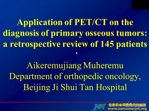 Application of PET/CT on the diagnosis of primary osseous tumors: a retrospective review of 162 patients