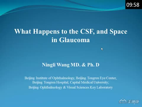 What Happens to the CSF, and Space in Glaucoma?