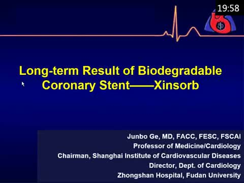 Long term result of biodegradable coronary stent - Xinsorb