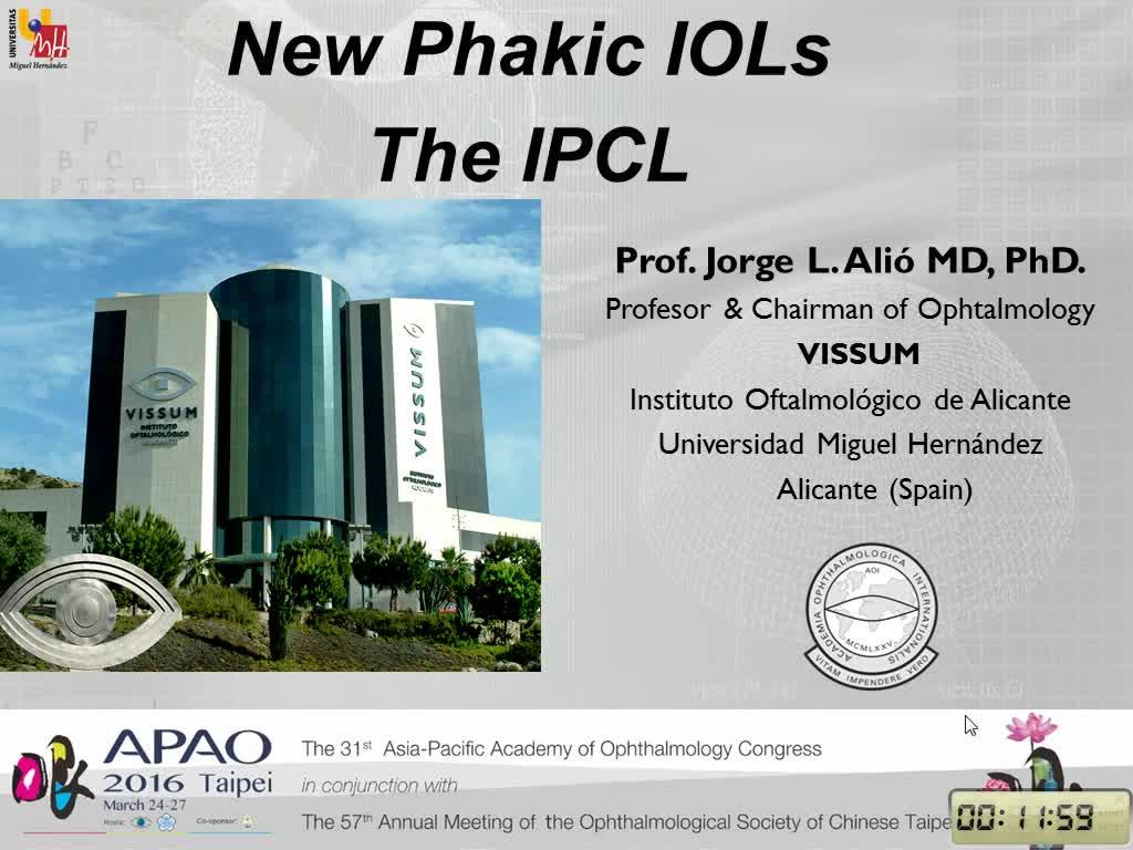 Phakik IOLs. The IPCL