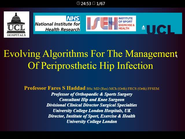Evolving Algorithms for the Management of Periprosthetic Hip Infection