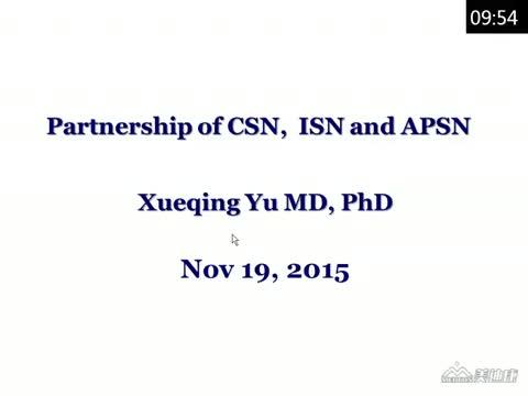 Partnership of CSN with ISN & APSN