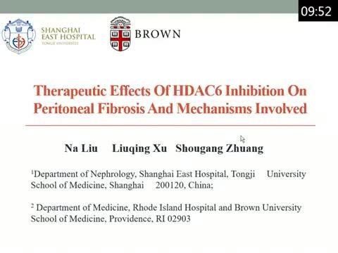 Inhibition of HDAC6 blocks the development and progression of peritoneal fibrosis