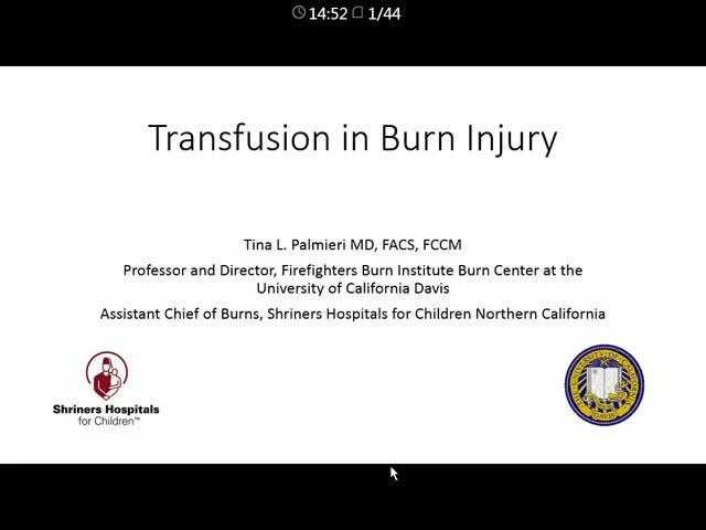 Blood Transfusion in Burns