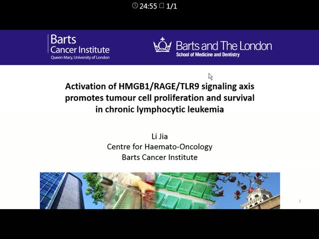 Activation of HMGB1∕RAGE∕TLR9 signaling axis Promotes tumor cell proliferation  and survival in chronic Lymphocytic leukemia