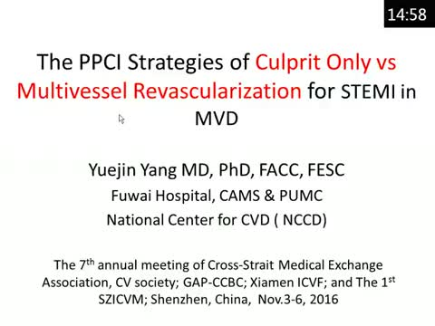 Infarct related artery only vsmultivessel PCI for STEMI patients with MVD