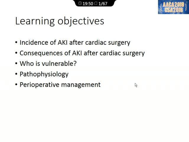 心脏手术中急性肾损伤:预防与管理