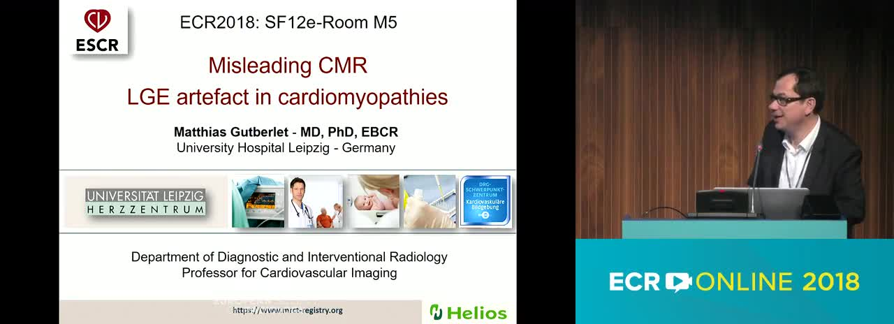 Misleading CMR LGE artefact in cardiomyopathies