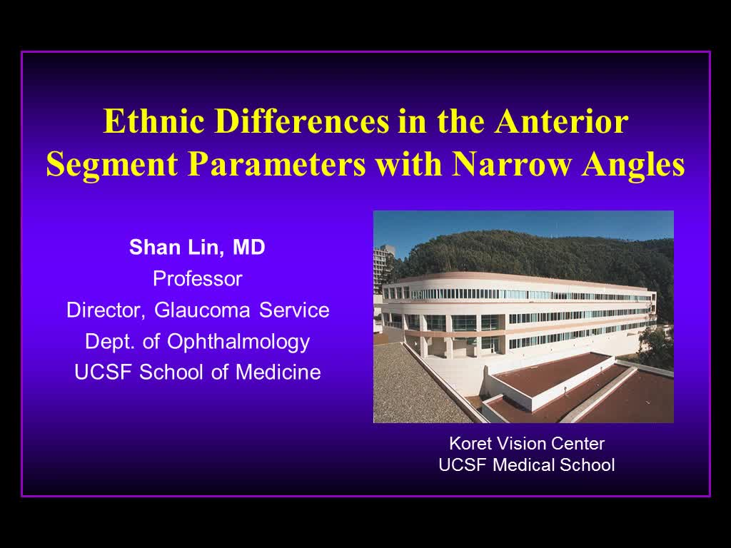 Differences in the Anterior Segment Parameters with Narrow Angles