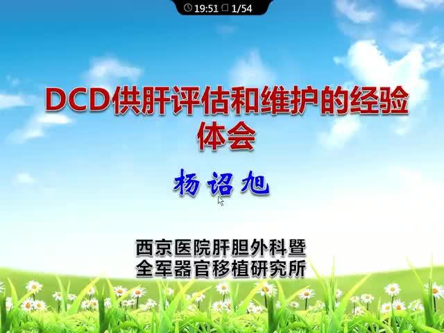 DCD供肝评估与维护