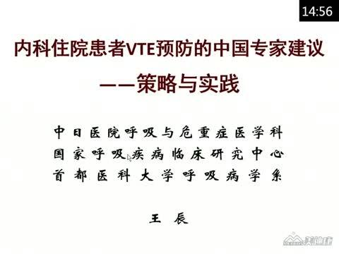 内科住院患者VTE预防:中国专家建议及实际操作