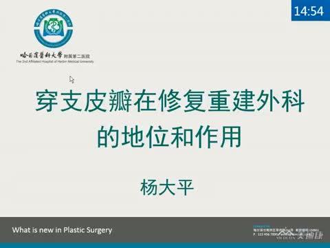穿支皮瓣在修复重建外科的地位和作用