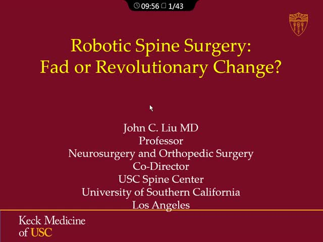 当前理念:脊柱外科机器人技术