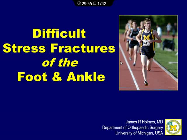 Difficult Stress Fractures of the Foot and Ankle