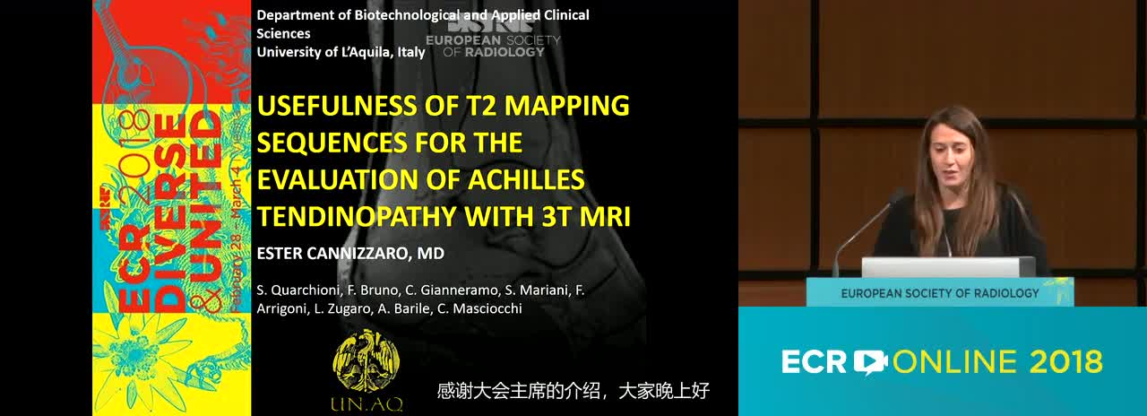 Usefulness of T2 mapping sequences for the evaluation of Achilles tendinopathy with 3T MRI