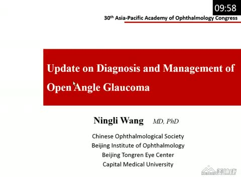 Update on Diagnosis and Management of Open Angle Glaucoma