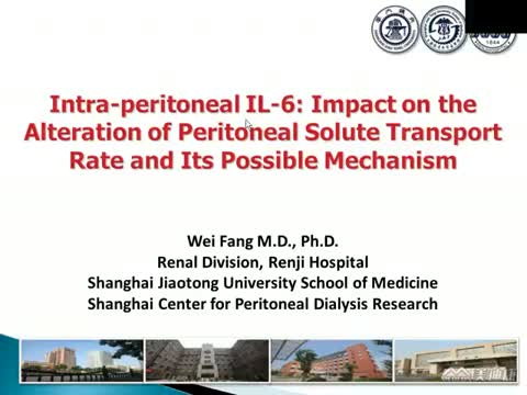 Intraperitoneal IL-6: impact on the alteration of peritoneal transport rate and its possible mechanism