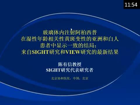 玻璃体内注射阿柏西普治疗亚洲和白种人湿性年龄相关性黄斑变性患者结果一致:SIGHT和VIEW研究结果