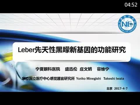 Leber先天性矇新基因的功能研究