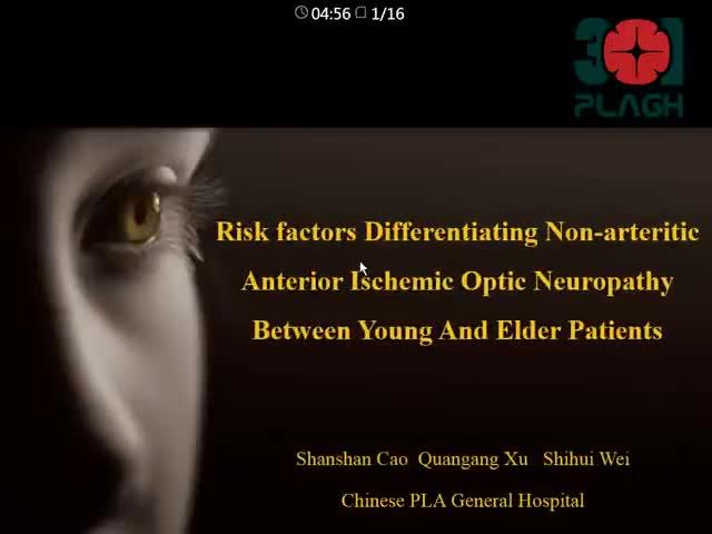 Risk factors Differentiating Non-arteritic AnteriorIschemic Optic Neuropathy Between Young And Elder Patients