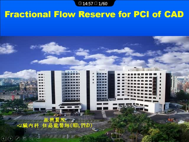 Fractional Flow Reserve for PCI of CAD.