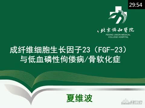 FGF23 与低血磷性佝偻病/骨软化症