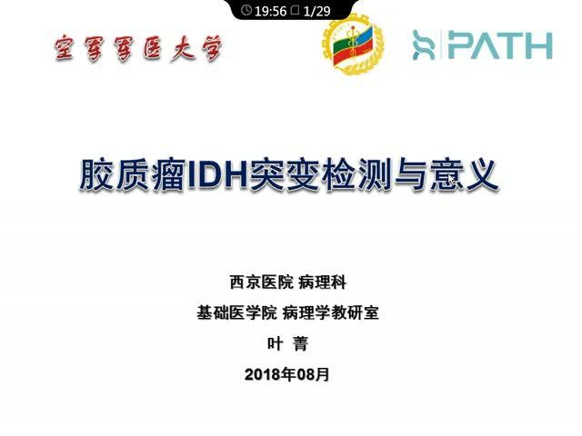 胶质瘤IDH突变检测及意义