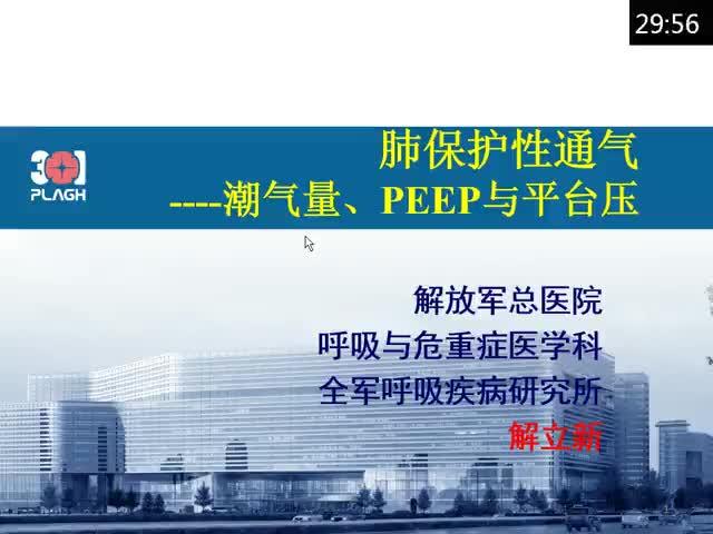 肺保护性通气:VT,PEEP和平台压的选择