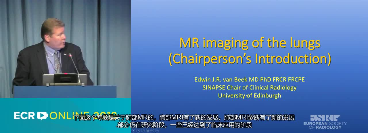 MR imaging of the lungs---Chairperson's introduction