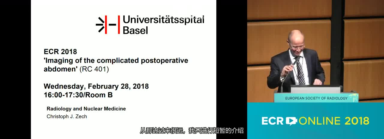 Imaging of the complicated postoperative abdomen---Chairperson's introduction