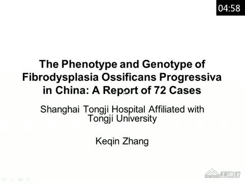 The Phenotype and Genotype of Fibrodysplasia Ossificans Progressiva in China: A Report of 72 Cases