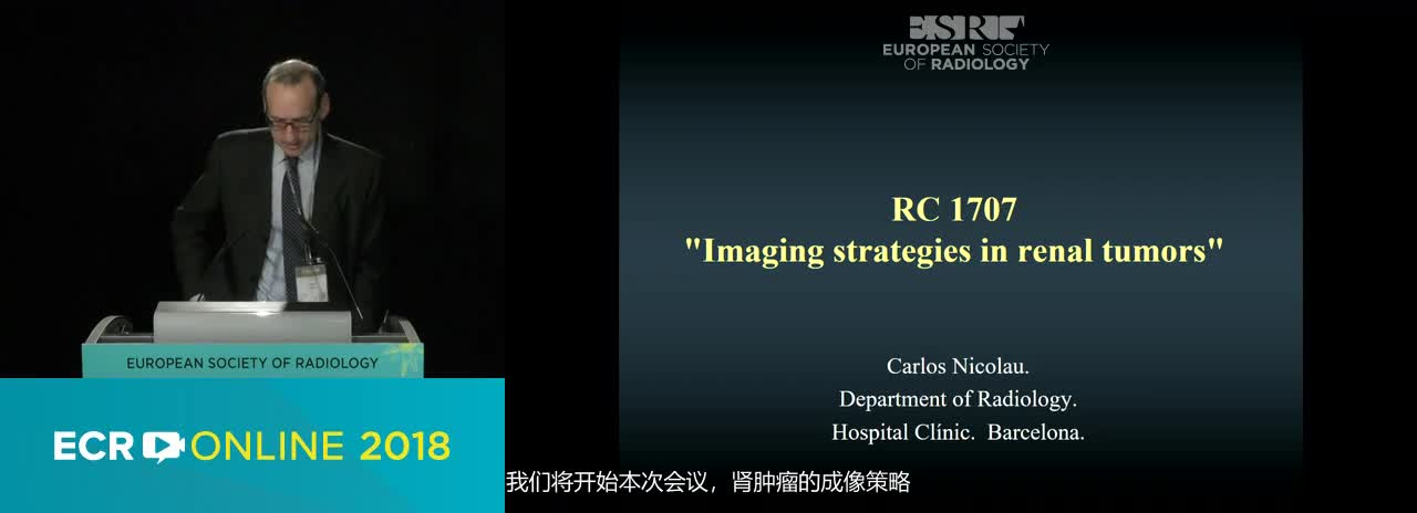 Imaging strategies in renal tumours---Chairperson's introduction