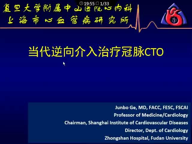 中国CTO病变介入治疗——2016新进展