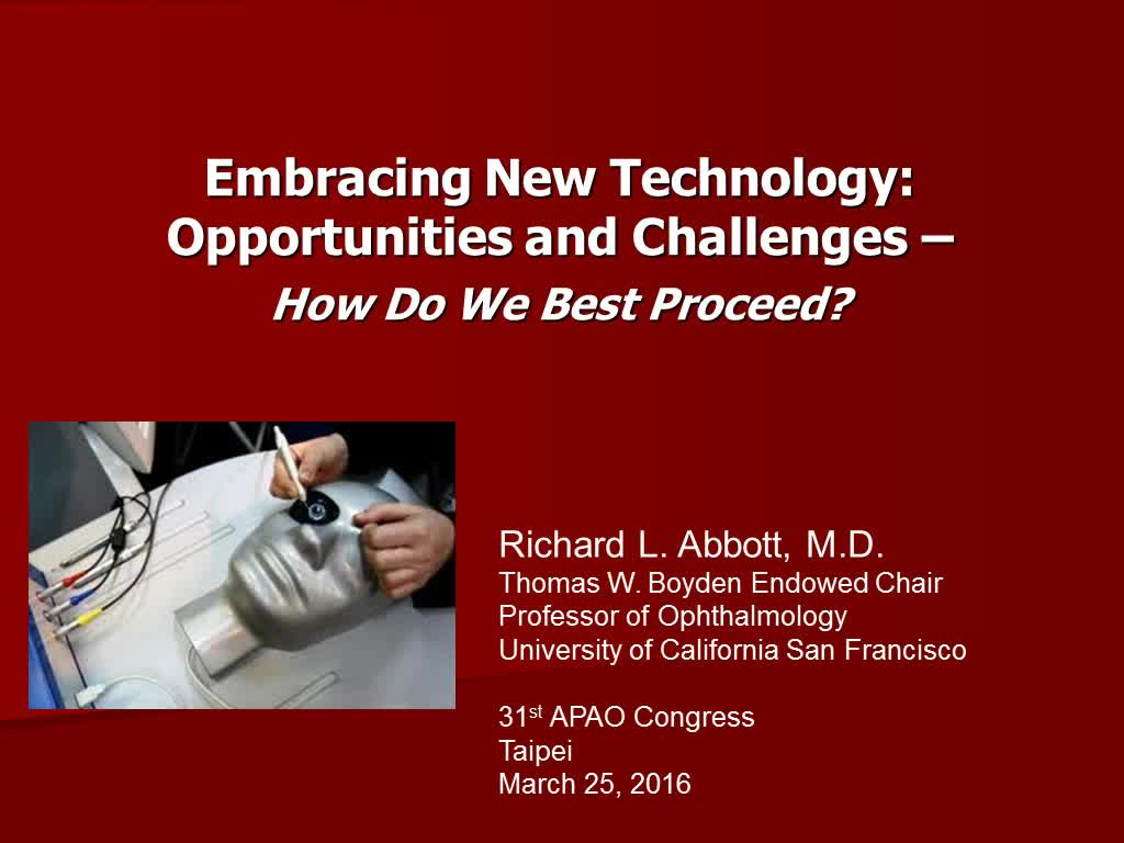 New Technology Opportunities and Challenges �X How do We Best Proceed