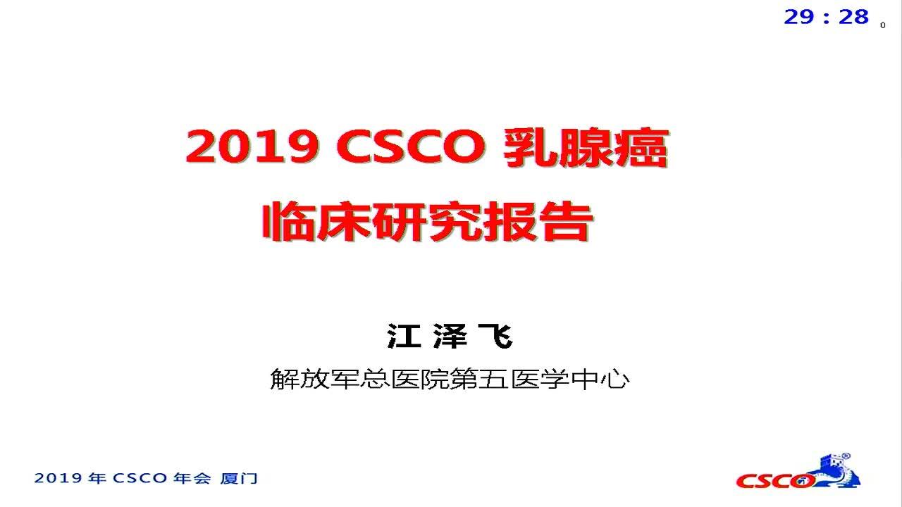 2019 CSCO乳腺癌临床研究报告