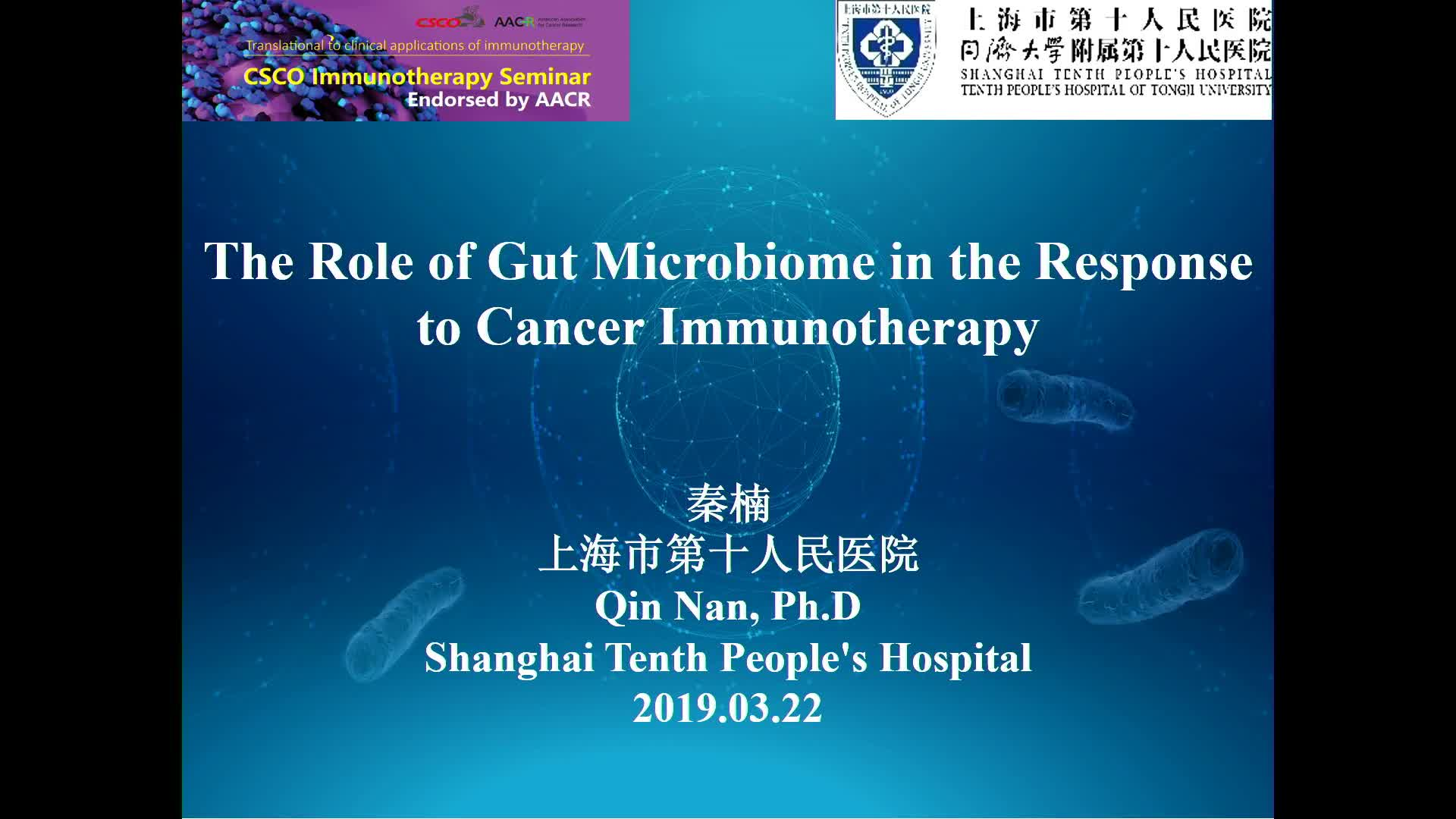 The role of Gut Microbiome in the Response to cancer immunotherapy