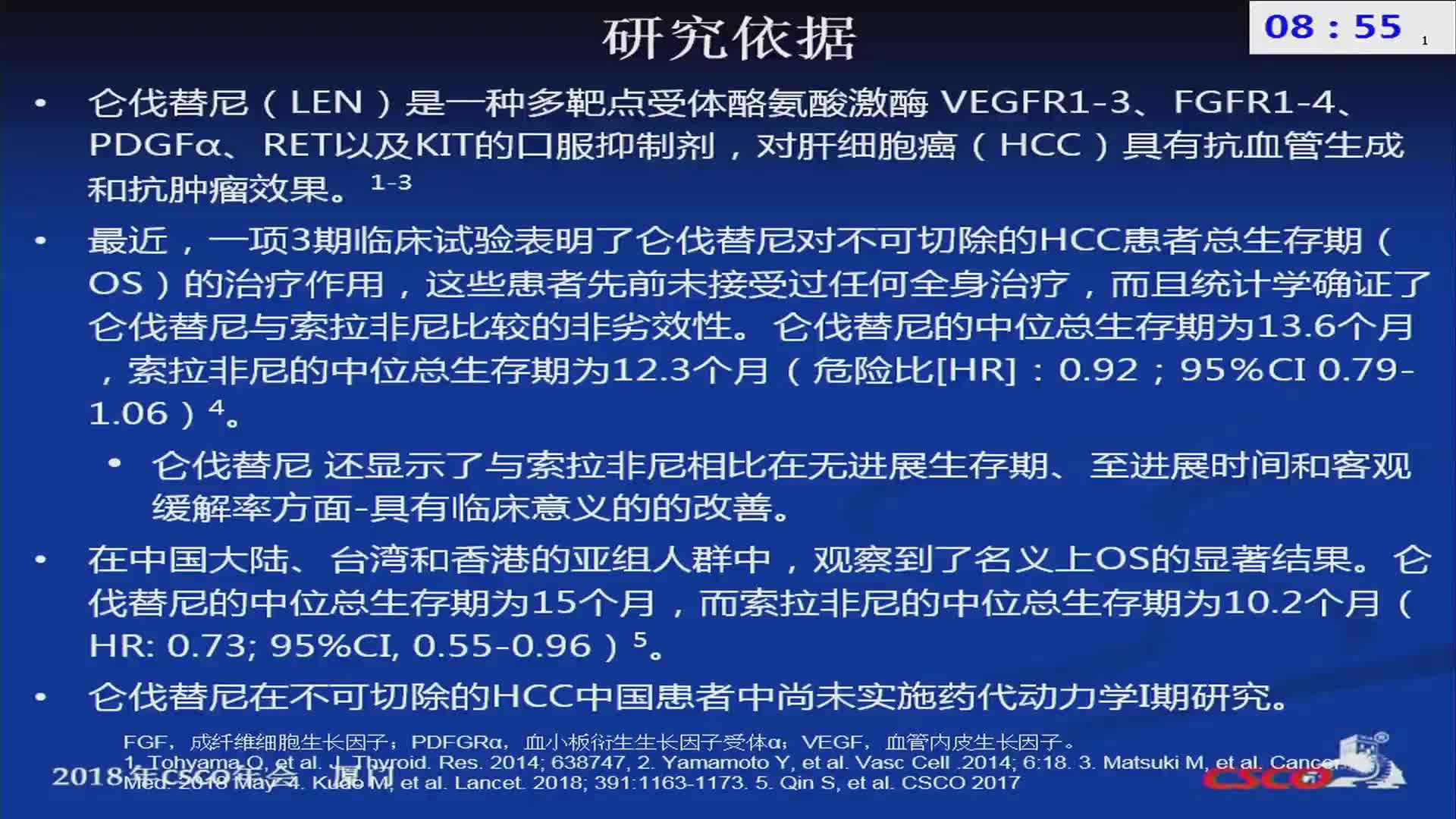 仑伐替尼在中国不可切除肝癌患者中的药代动力学研究
