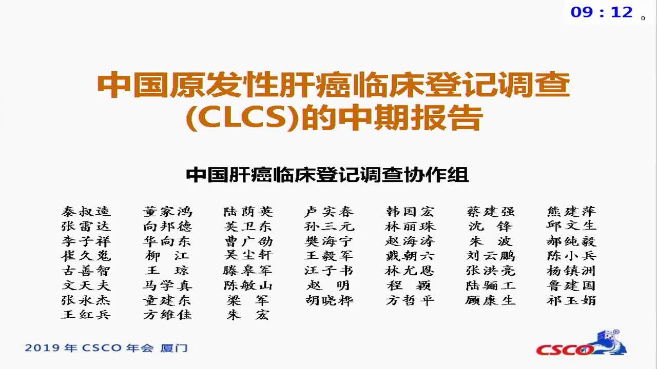 中国原发性肝癌临床登记调查报告