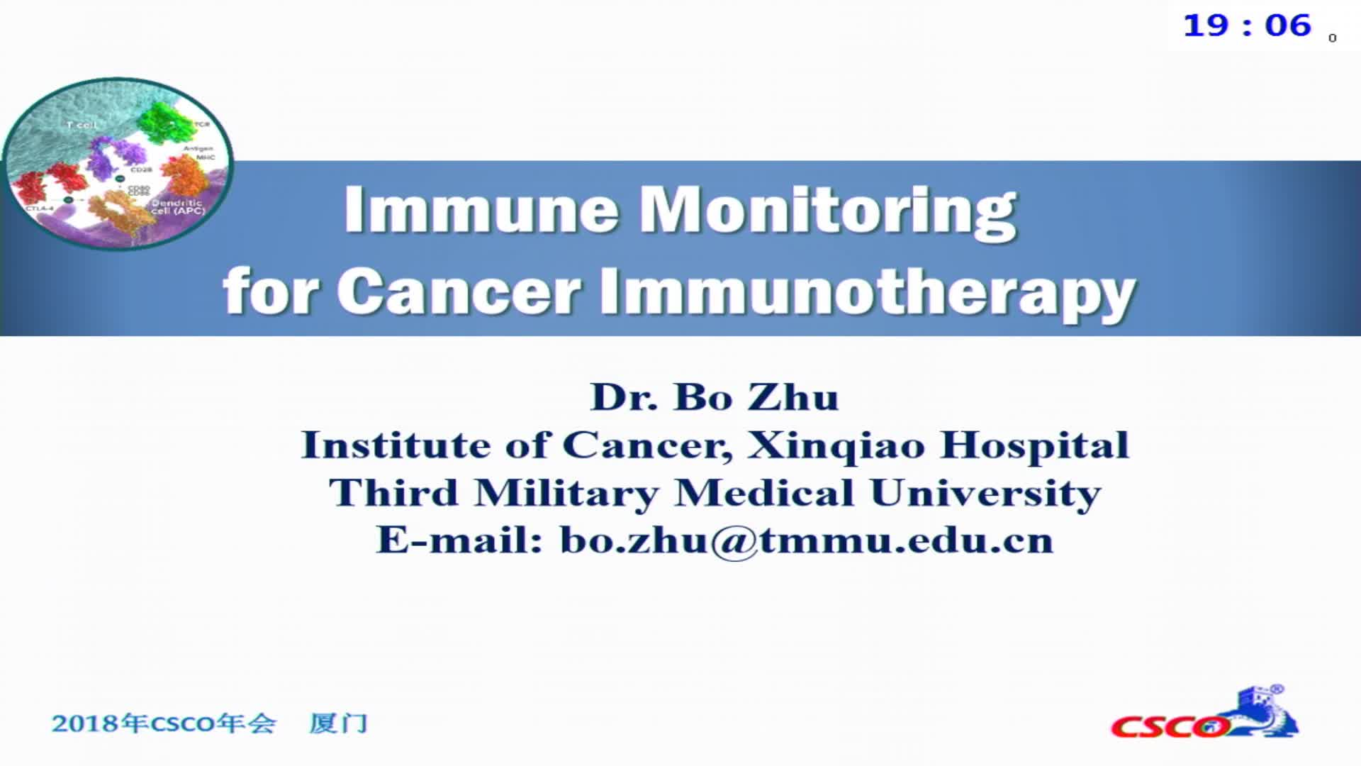 Immune monitoring for Cancer Immunotherapy
